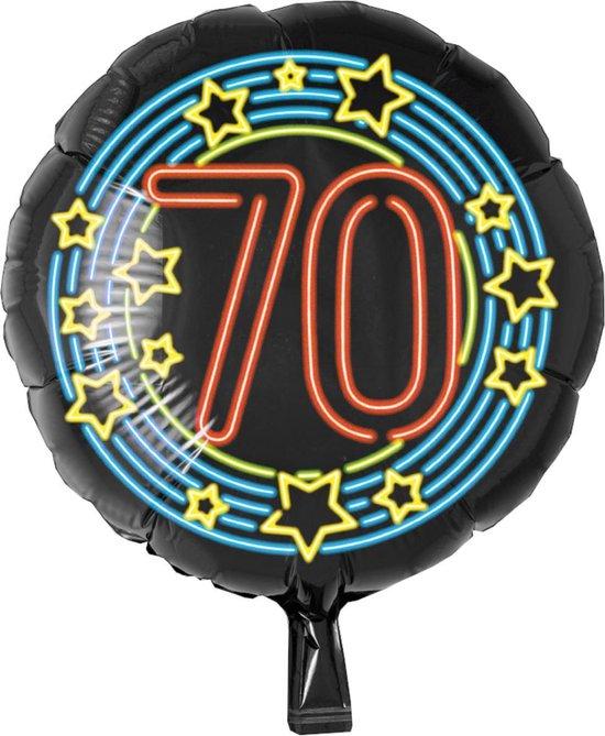Folieballon - 70 Jaar - Neon - 43cm - Zonder vulling