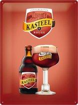 Ingelmunster Kasteel Rouge Bier Metalen Bord 30 x 40 cm