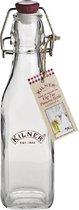 Kilner Vierkante fles - Met plastic beugelsluiting - 250 ml