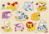 Goki Dierenbaby's puzzel 10 stukjes
