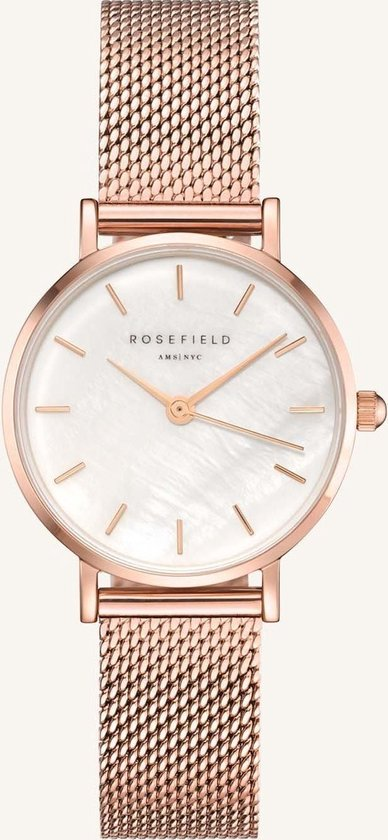 Rosefield Small Edit Dames Horloge – Rosé Goud Ø26mm – 26WR-265
