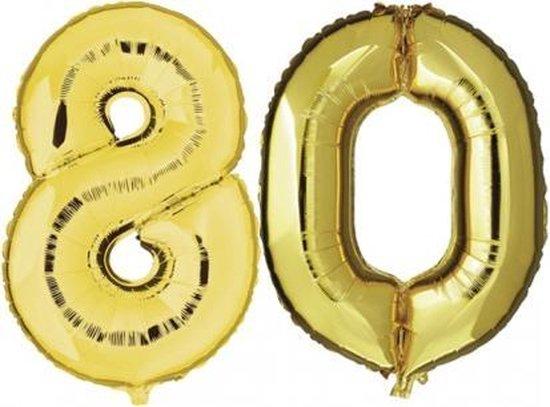 80 jaar folie ballonnen goud