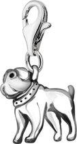 Quiges - Charm Bedel Hanger 3D Hond - Dames - zilverkleurig - QHC088