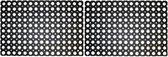 2x Rubberen deurmat - 60 x 40 cm - buitenmat - Deurmatten/buitenmatten