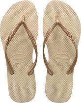 Havaianas Slim Dames Slippers - Grey/Light Golden - Maat 37/38