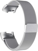 4mobilez® Fitbit Charge 3 horlogeband Milanese Silver - magneetsluiting