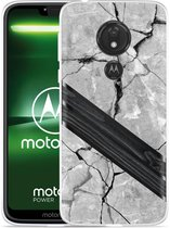 Moto G7 Power Hoesje Marble Wood