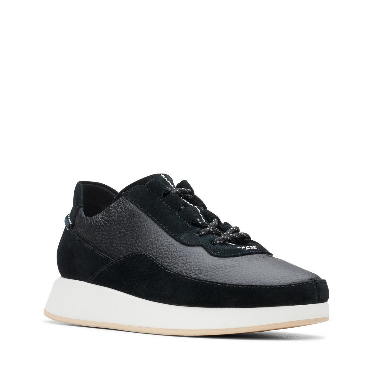 Clarks - Damesschoenen - Kiowa Pace. - D - zwart - maat 6 Sneakers