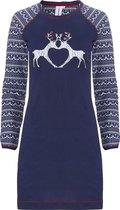 Rebelle dames nachthemd L/M Reindeer  - 46  - Blauw