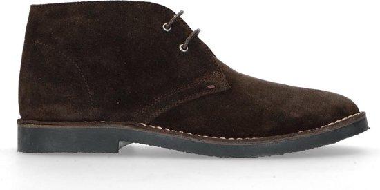 Manfield Donkerblauwe desert boots