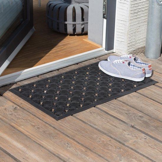 Relaxdays deurmat rubber, voetveger gummi, droogloopmat