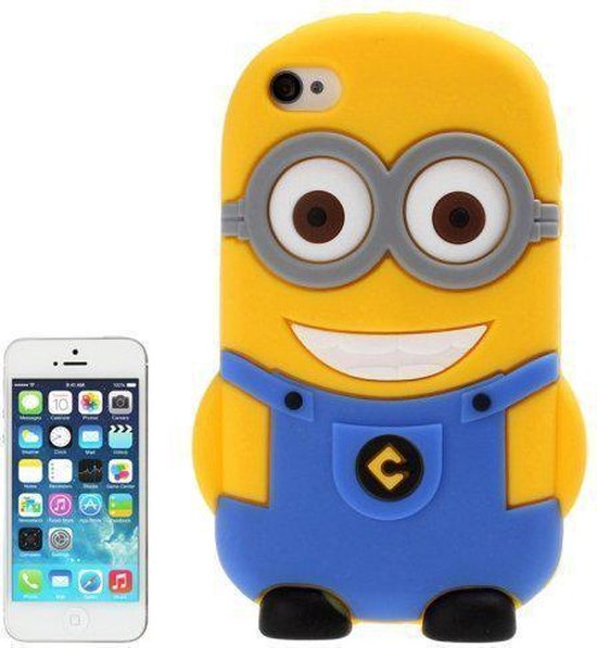 iPhone 5, 5s Despicable Me Minion silicone Cover, hoesje, case blauw