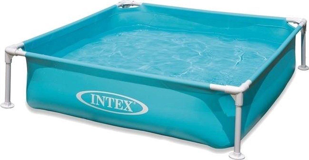 opzetzwembad Mini 57173NP 122 x 122 x 30 cm blauw