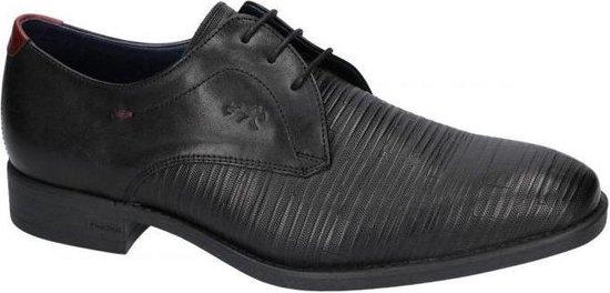Fluchos -Heren -  zwart - geklede veterschoen - maat 43