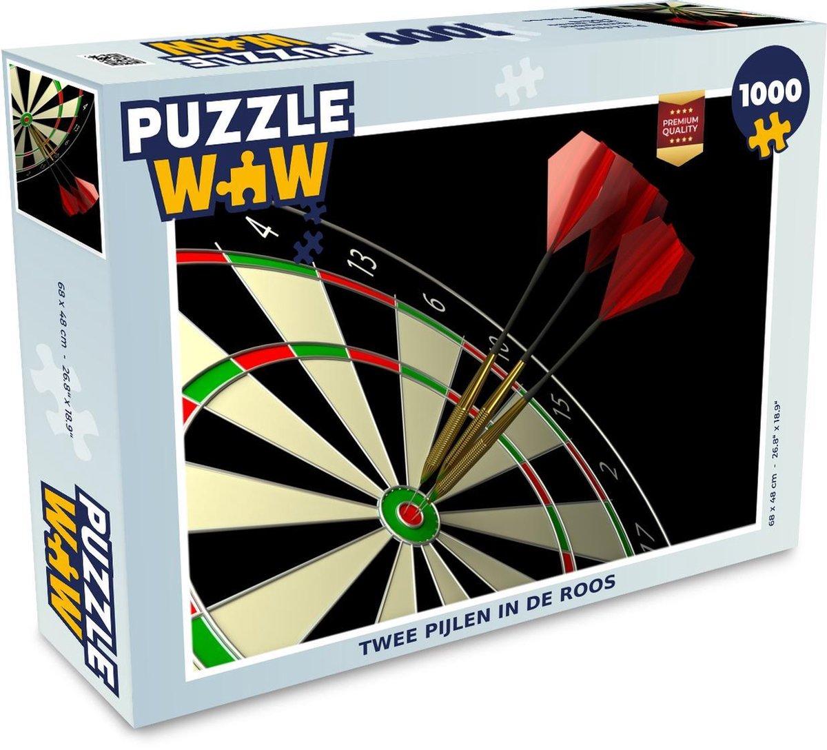 Puzzel 1000 stukjes volwassenen Darten 1000 stukjes - Twee pijlen in de roos - PuzzleWow heeft +100000 puzzels