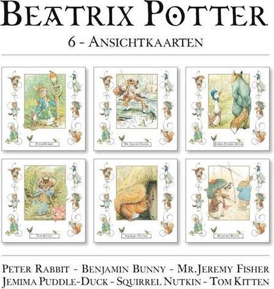 Afbeelding van Ansichtkaarten Beatrix Potter speelgoed