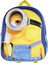 Minions Despicable Me Kids 3D Backpack Rugtas Blauw