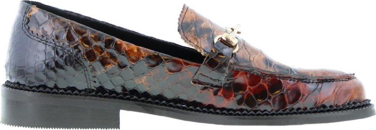 Tango | Pleun cartel 89-a Tiany Kiriloff multicolour leather loafer - black sole | Maat: 42