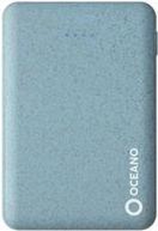 SBS Oceano Eco-friendly Powerbank 2x USB, 5.000 mAh, hellblau