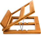 Relaxdays Boekenstandaard - Bamboe hout - 3 standen