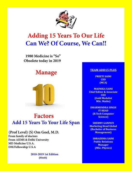 """Adding 15 Years To Our Life, Can We? Yes! We Can!! 1980 Medicine is """"So Obsolete"""" Today in 2019, Manage 10 Factor, Add 15 Years To Our Life Span"""
