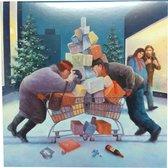 Kaarten - Kerst - Marius van Dokkum - Kerstprent/kerststress - 10st.
