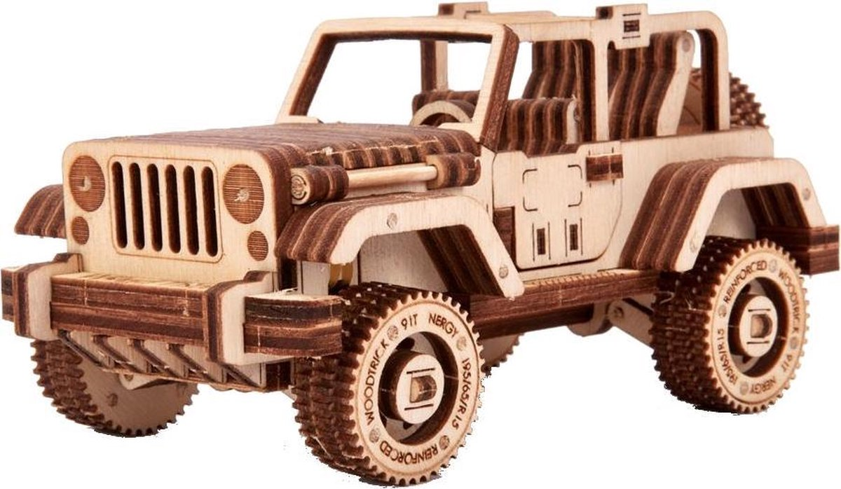 Wood Trick Houten Modelbouw 3d Safari 18,5 Cm Blank 126-delig