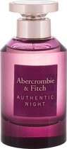 New: Abercrombie & Fitch Authentic Night Woman 100ml Edp Spray