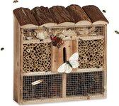 relaxdays Relaaxdays insectenhotel om op te hangen, insectenhuis, overwinteren, nestelen A