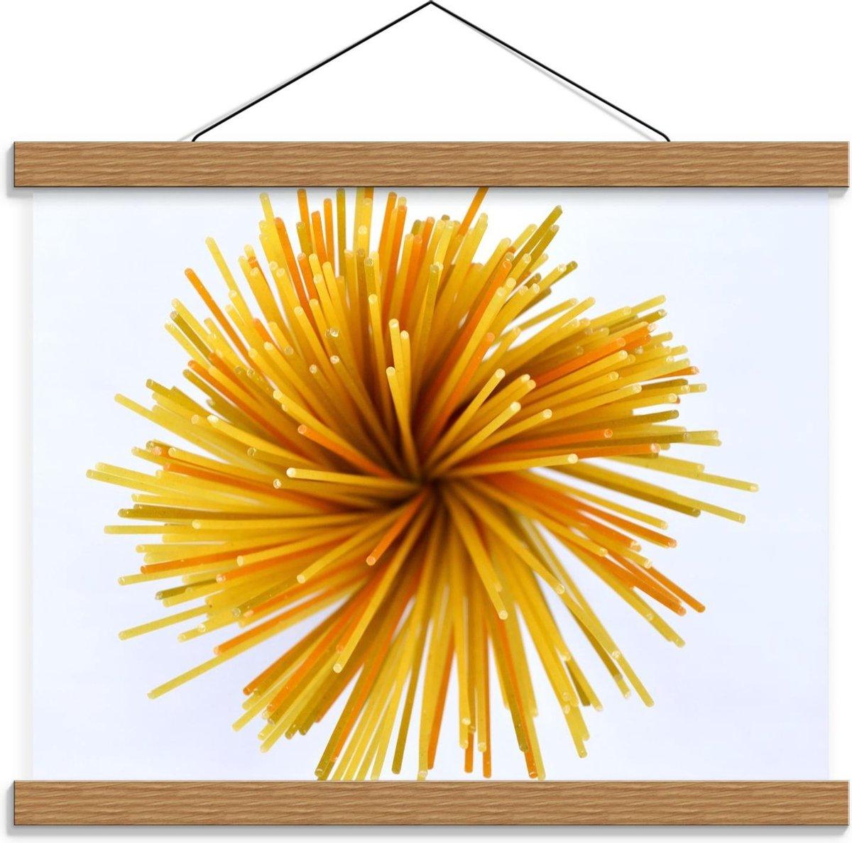 Schoolplaat – Geel/Oranje Bal - 40x30cm Foto op Textielposter (Wanddecoratie op Schoolplaat)