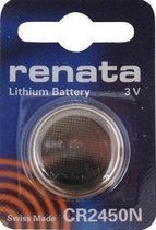 Renata CR2450N 3V Lithium knoopcel batterij