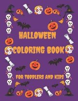 Halloween coloring book for toddlers and kid