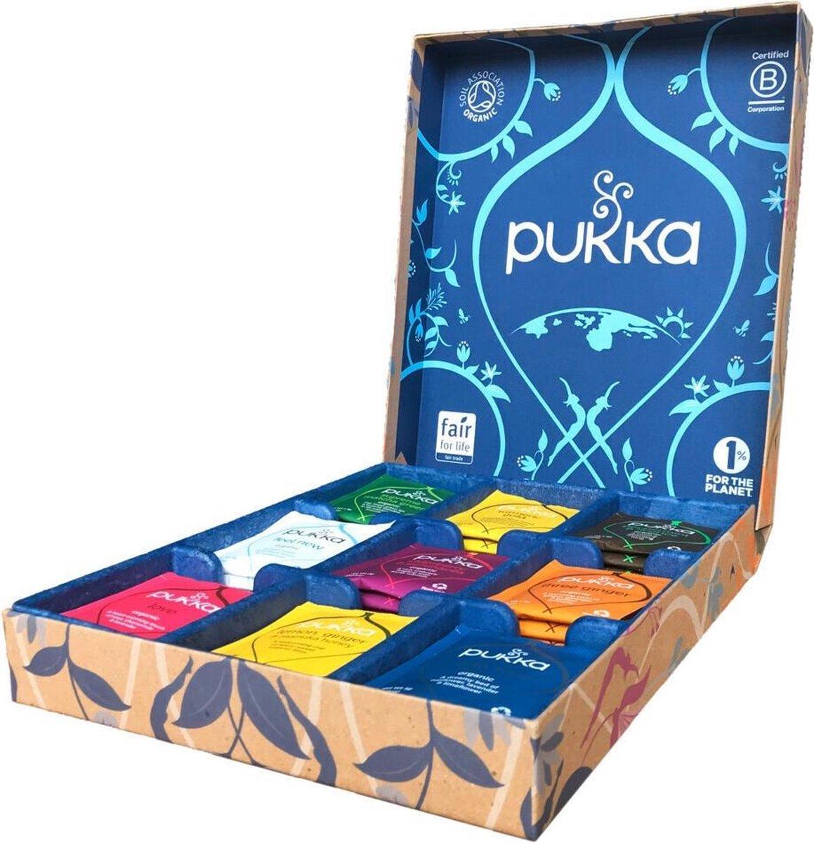 Pukka Original Theeselectie 9  Blends Biologische Kruidenthee - 45 zakjes - Geschenkdoos