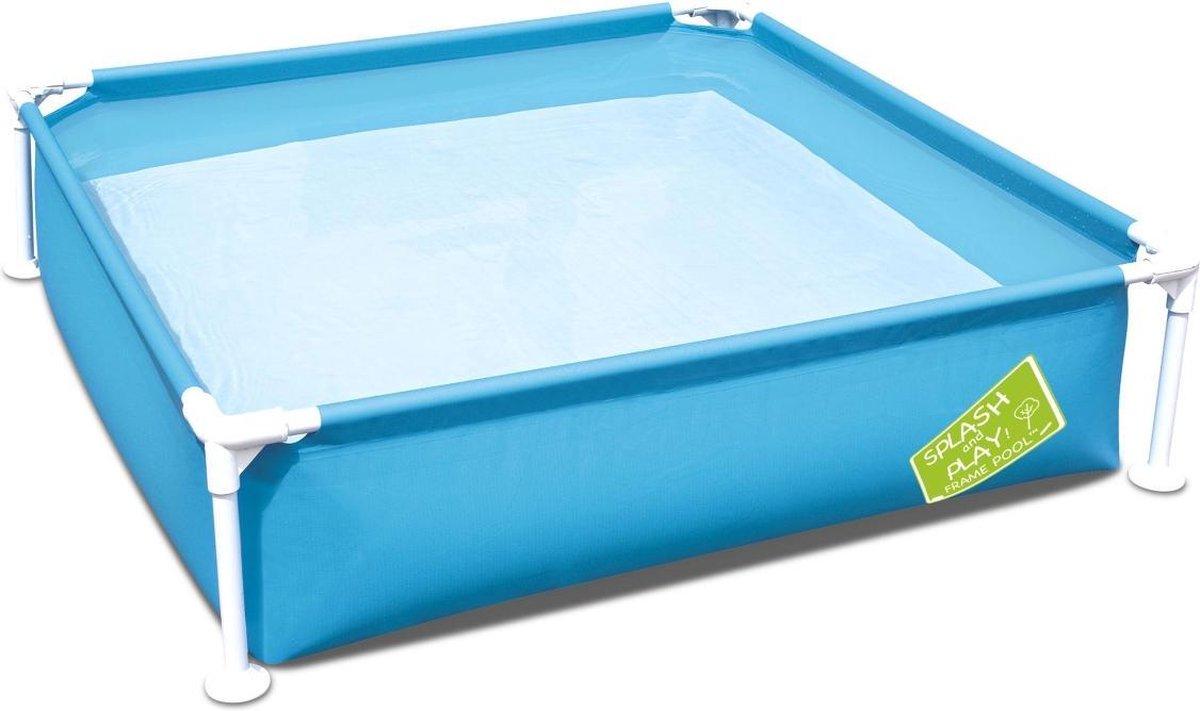 Vierkant zwembad Melville 122x122x30,5cm, pierenbad, klein zwembad
