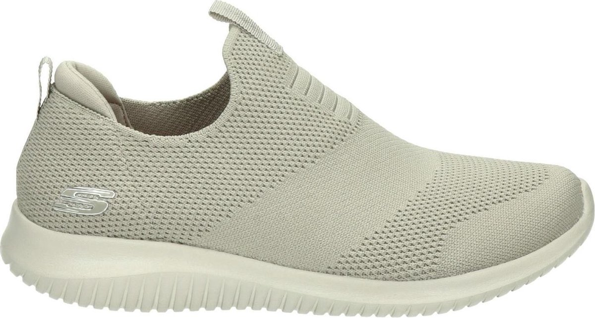 Skechers Ultra Flex First Take Dames Instappers - Taupe - Maat 39