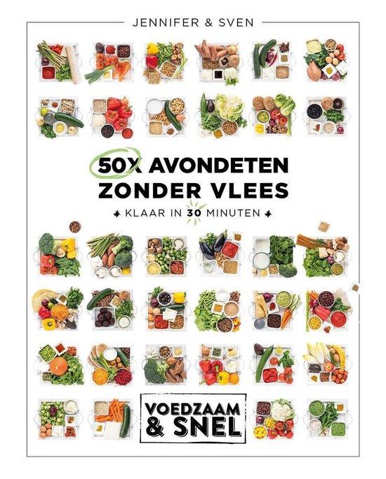 Boek cover 50x avondeten zonder vlees van Sven En Jennifer (Onbekend)