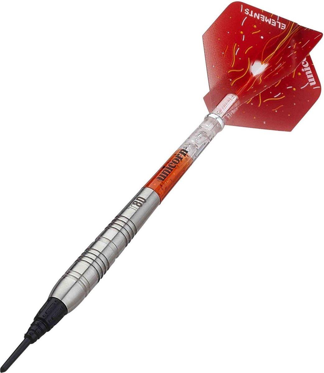Unicorn Dartpijlen Core Xl Striker Softtip 22g Tungsten Zilver