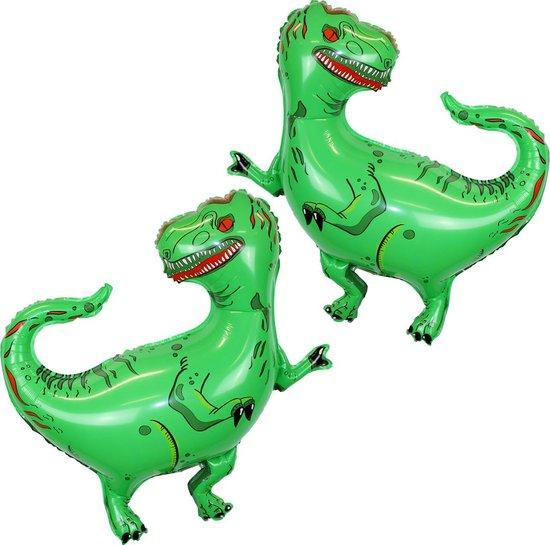Dinosaurus Versiering Helium Ballonnen Dino Decoratie Feest Ballon Verjaardag Versiering 80 Cm Met Rietje – 2 Stuks