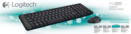 Logitech MK220 - Draadloos Toetsenbord en Muis - Qwerty