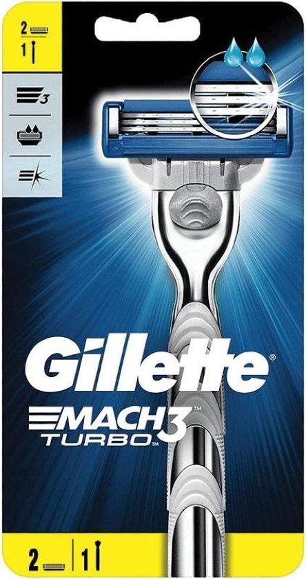 GILLETTE Mach3 Turbo-scheerapparaat + 1 mes