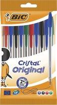 Balpennen Cristal BIC - Assorti - 10 stuks