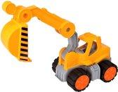 BIG - Power Worker' speelgoed graafmachine - Geel