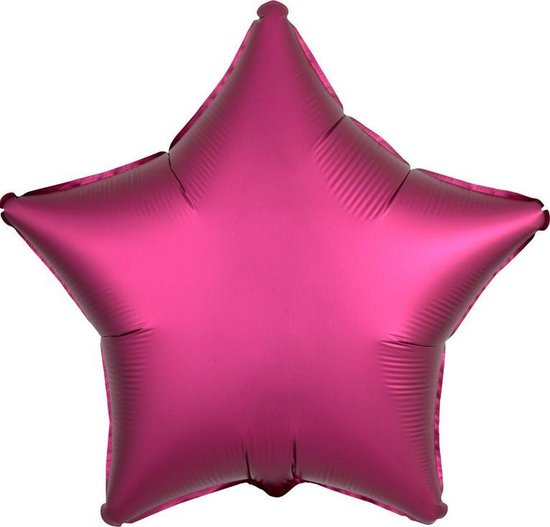 AMSCAN - Satijnachtige fuchsia ster ballon - Decoratie > Decoratie beeldjes