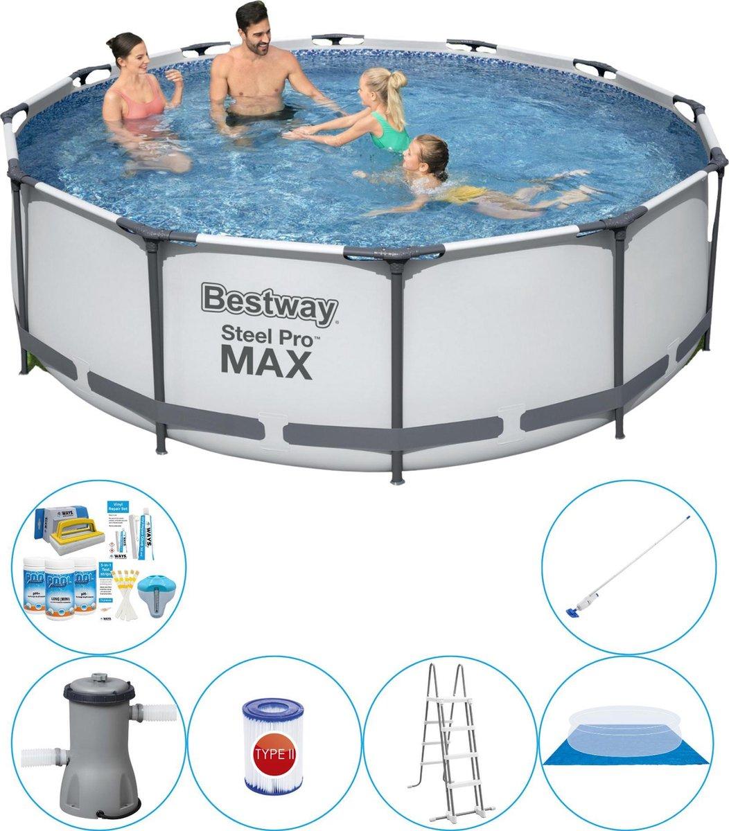 Bestway Steel Pro MAX Rond 366x100 cm - 7-delig - Zwembad Super Deal
