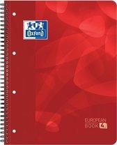 Oxford School Projectbook -A4+ - Ruit 5mm - 4 gaats - 240 pagina's - rood