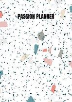 Passion Planner-12 maanden- wekelijks - A5- Zachte kaft-Marmer blauw- Allets Comfort
