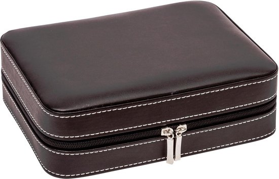 LA ROYALE Horlogebox Viaggio 4 - Reisetui - Zwart - 4 Horloges