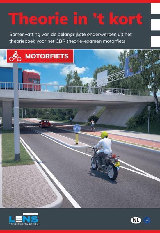Boek cover Lens verkeersleermiddelen  -   Theorie in t kort motorfiets van P. Somers (Paperback)