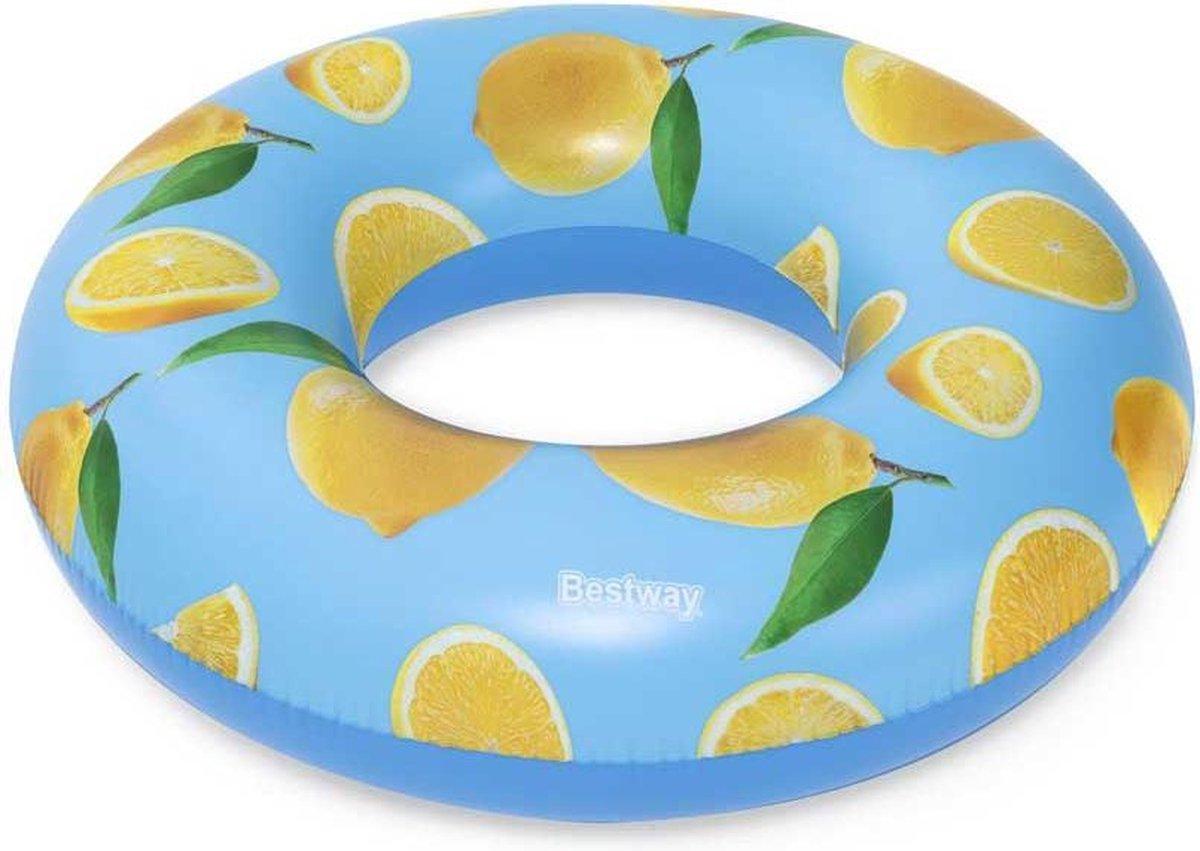 Bestway Zwemband Lemon Junior 106 X 27 Cm Vinyl Blauw/geel