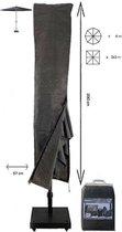 COVER UP HOC Basic Parasolhoes staande parasol met stok en rits 230x30x57 cm - Grijze Parasolhoes